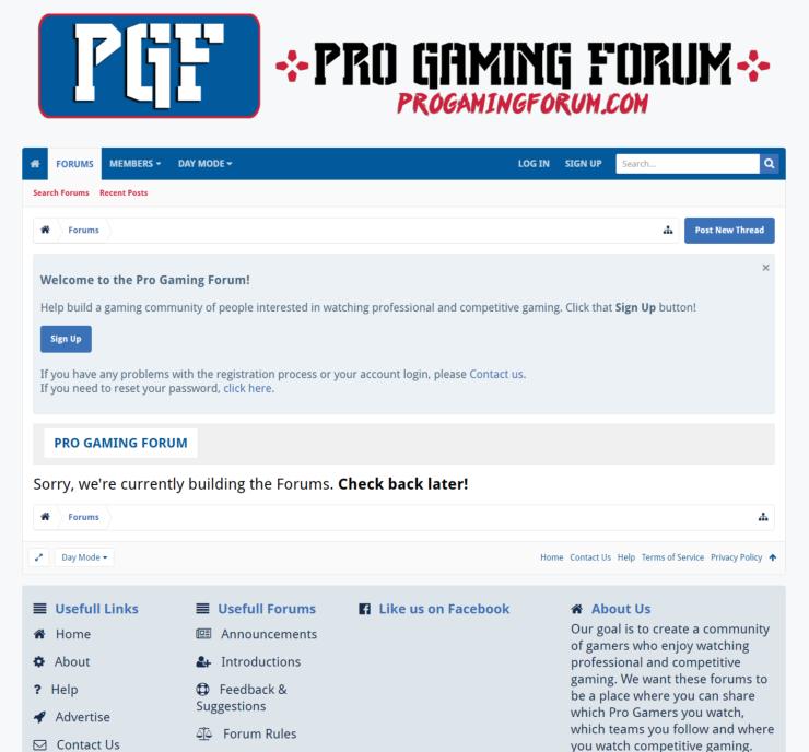 Pro Gaming Forum